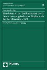Einschätzung der Deliktschwere durch deutsche und griechische Studierende der Rechtswissenschaft