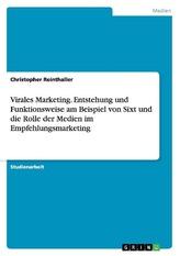 Virales Marketing. Entstehung und Funktionsweise am Beispiel von Sixt und die Rolle der Medien im Empfehlungsmarketing