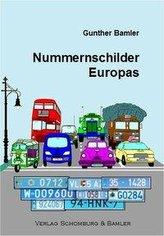 Die Nummernschilder Europas