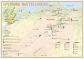 Whisky Distilleries Speyside - Tasting Map