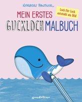 Mein erstes Guckloch-Malbuch für Kinder ab 2 Jahre (Wal). Ein Kreativ-Mitmachbuch zum Ausmalen und Fertigmalen: Schablone für Sc
