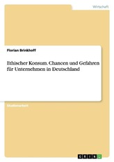 Ethischer Konsum. Chancen und Gefahren für Unternehmen in Deutschland