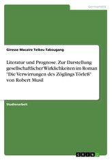 """Literatur und Prognose. Zur Darstellung gesellschaftlicher Wirklichkeiten im Roman \""""Die Verwirrungen des Zöglings Törleß\"""" von Ro"""