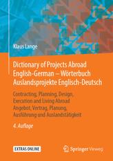Dictionary of Projects Abroad English-German - Wörterbuch Auslandsprojekte / Englisch-Deutsch