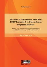 Wie kann IT-Governance nach dem COBIT Framework in Unternehmen eingesetzt werden? Welche Vor- und Nachteile bergen Anwendung und