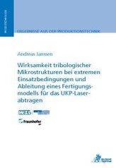 Wirksamkeit tribologischer Mikrostrukturen bei extremen Einsatzbedingungen und Ableitung eines Fertigungsmodells für das UKP-Las