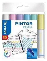 Marker permanentny Pintor Pastel 6 kolorów PILOT