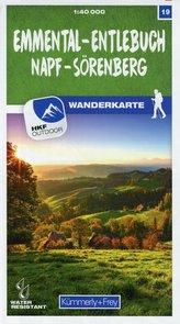 Emmental - Entlebuch Napf - Sörenberg 19 Wanderkarte 1:40 000 matt laminiert