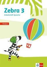 Zebra 3. Arbeitsheft Fördern Klasse 3