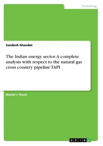 The Indian energy sector. A complete analysis with respect to the natural gas cross country pipeline TAPI