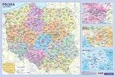 Podkładka edukacyjna- mapa administracyjna Pol.