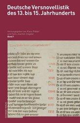 Deutsche Versnovellistik des 13. bis 15. Jahrhunderts. Bd.1.1