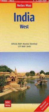 Nelles Map Landkarte India: West 1:1 500 000