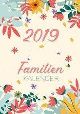 Familienkalender 2019  - Terminplaner und Kalender für bis zu 6 Personen - Familienplaner und Timer für das neue Jahr 2019