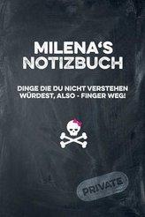 Milena\'s Notizbuch Dinge Die Du Nicht Verstehen Würdest, Also - Finger Weg!: Liniertes Notizheft / Tagebuch Mit Coolem Cover Und