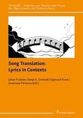 Song Translation: Lyrics in Contexts
