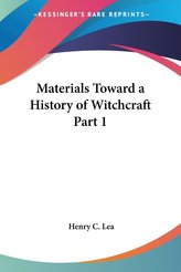Materials Toward a History of Witchcraft Part 1