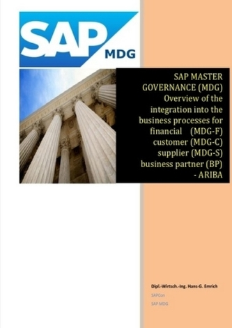 SAP Master Data Governance - Overview of the integration into the business processes for - financial (MDG-F) - customer (MDG-C)