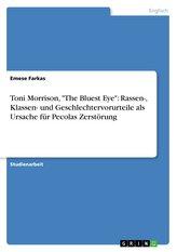 """Toni Morrison, \""""The Bluest Eye\"""": Rassen-, Klassen- und Geschlechtervorurteile als Ursache für Pecolas Zerstörung"""
