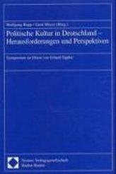 Politische Kultur in Deutschland - Herausforderungen und Perspektiven