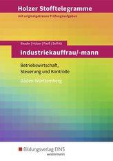 Holzer Stofftelegramme Industriekauffrau/-mann. Aufgabenband. Baden-Württemberg