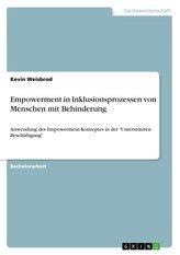 Empowerment in Inklusionsprozessen von Menschen mit Behinderung
