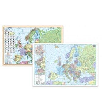 Podkładka na biurko - Mapa polit. i kodowa Europa