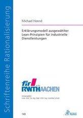 Erklärungsmodell ausgewählter Lean-Prinzipien für industrielle Dienstleistungen