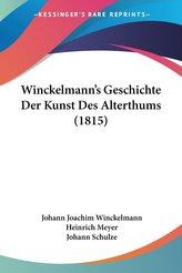 Winckelmann\'s Geschichte Der Kunst Des Alterthums (1815)