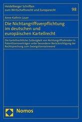 Die Nichtangriffsverpflichtung im deutschen und europäischen Kartellrecht