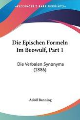 Die Epischen Formeln Im Beowulf, Part 1