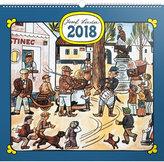 Kalendář nástěnný 2018 - J. Lada - Náves