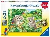 Roztomilé koaly a pandy 2x24 dílků