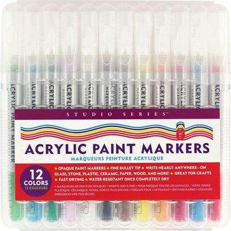 Markery akrylowe 12 kolorów