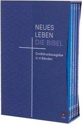 Neues Leben. Die Bibel, Großdruckausgabe 4 Bände mit Registerstanzung