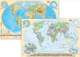 Podkładka na biurko -Mapa polityczno-fizycz. Świat