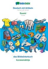 BABADADA, Deutsch mit Artikeln - Suomi, das Bildwörterbuch - kuvasanakirja