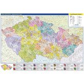 Česká republika - nástěnná administrativní mapa 1:500 tis./99x69 cm
