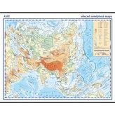 Asie - školní nástěnná obecně zeměpisná mapa, 1:13 mil./136x96 cm