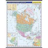 Severní a střední Amerika - školní nástěnná politická mapa 1:10 mil./96x126,5 cm