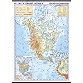 Severní a střední Amerika - školní nástěnná zeměpisná mapa 1:10 mil./96x136 cm