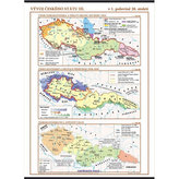 Vývoj českého státu III. (v 1. polovině 20. stol.) – školní nástěnná mapa/96 x 136 cm
