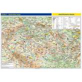 Česká republika - školní nástěnná vlastivědná mapa 1:370 tis./136x96 cm