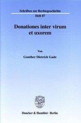 Donationes inter virum et uxorem.