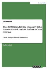"""Theodor Storms \""""Ein Doppelgänger\"""". John Hansens Umwelt und der Einfluss auf sein Schicksal"""