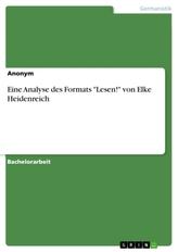 """Eine Analyse des Formats \""""Lesen!\"""" von Elke Heidenreich"""