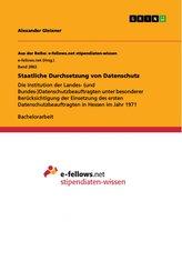 Staatliche Durchsetzung von Datenschutz