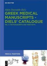 Greek Medical Manuscripts - Diels\' Catalogue