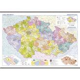 Česká republika - školní nástěnná administrativní mapa  1:375 tis./136x96 cm