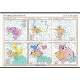 Vývoj českého státu I. (od 9. do 16. století) – školní nástěnná mapa/136 x 96 cm